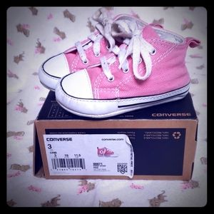 Pink Converse Infant size 3